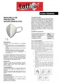 MASCARILLA DE PROTECCION AUTOFILTRANTE FFP2 (4 CAPAS) - 2