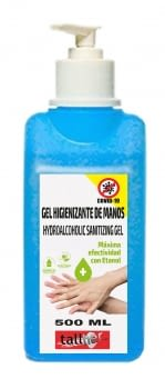 DISPENSADOR GEL HIGIENIZANTE 500ML CON ETANOL