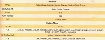 KIT CALADO DISTRIBUCIONES OPEL/FIAT/ALFA/SAAB/CHEVROLET 1.4/1.6/1.8 - 1