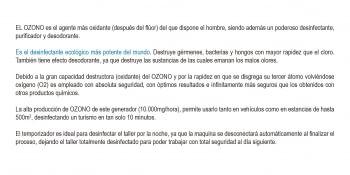 GENERADOR DE OZONO PORTÁTIL 10.000 MG/H (220V) - 1