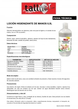 DISPENSADOR LOCIÓN HIGIENIZANTE DE MANOS 500 ML. - 1