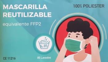 MASCARILLA FFP2 REUTILIZABLE 85 LAVADOS NEGRA - 1