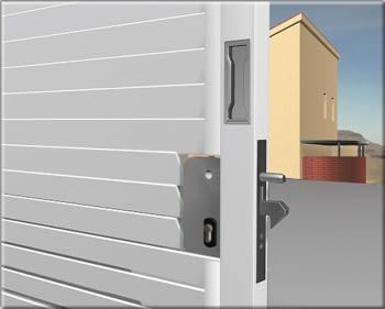 """Cerradura para puerta corredera  """"pico de loro""""  sin cilindro AUMON - 1"""