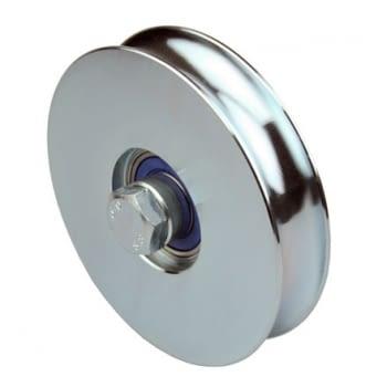 Ruedas en INOX puerta corredera con canal redondo 20 mm AUMON