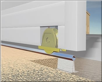Rueda con soporte atornillar canal angular de 24 mm  AUMON - 1