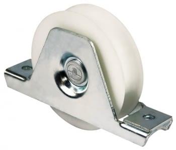Rueda con soporte atornillar nylon, canal de 20 mm AUMON