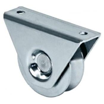 Rueda con soporte de sobreponer, canal de 24 mm angular AUMON