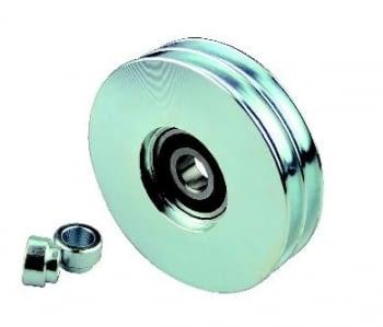 Polea hierro zincado 2 canales p/puerta basculante  AUMON
