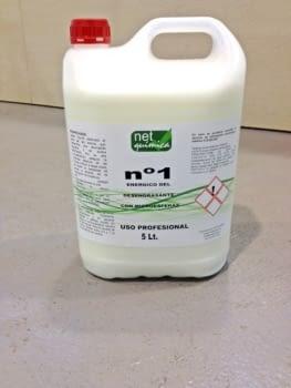 Jabón líquido desgrasante con microesfera, garrafa de 5 litros