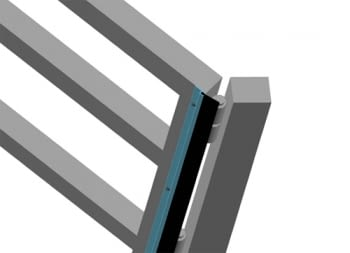 """Perfil aluminio """"H"""" para goma tapajuntas y antipinzamiento 3 metros - 2"""
