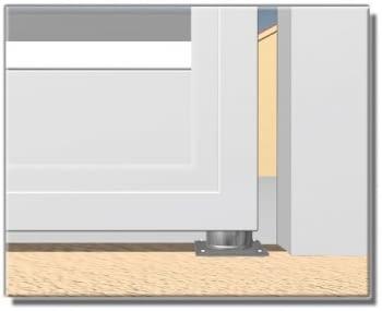 Base inferior INOX con rodamiento para puerta batiente AUMON - 1