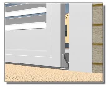 Base con bola y pernio para  puerta batiente  AUMON - 1
