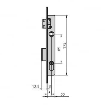Cerradura embutir mod. 1963/5 aguja 16 mm golpe y llave CVL - 1