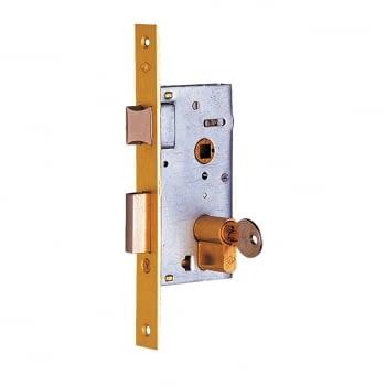 Cerradura embutir mod. 1960, aguja de 40 mm, llave y golpe CVL