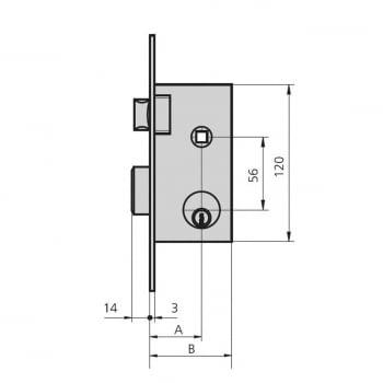 Cerradura embutir mod. 1962/2   llave y golpe CVL - 1