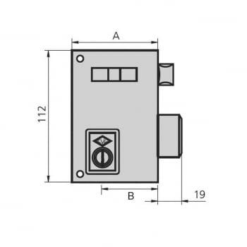 Cerradura sobreponer esmaltada mod. 56A CVL - 1