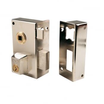 Cerradura sobreponer niquelada mod. 56B/0 CVL