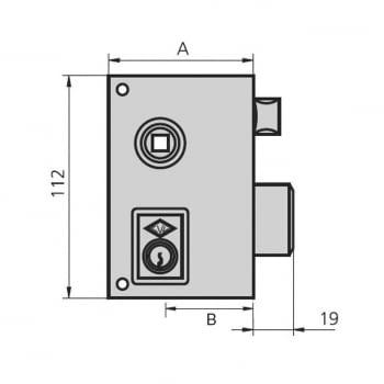 Cerradura sobreponer niquelada mod. 56B/0 CVL - 1