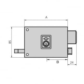 Cerradura sobreponer esmaltada mod. 125-A/1 CVL - 1