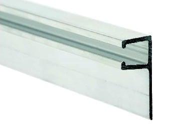 """Perfil aluminio """"F"""" para goma tapajuntas y antipinzamiento 3 metros AUMON"""