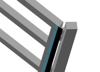 """Perfil aluminio """"F"""" para goma tapajuntas y antipinzamiento 3 metros AUMON - 1"""
