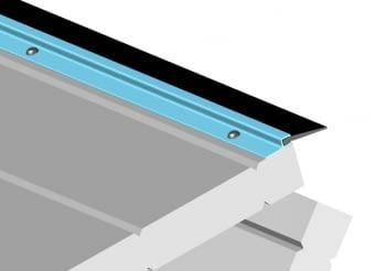 """Perfil aluminio """"F"""" para goma tapajuntas y antipinzamiento 3 metros AUMON - 2"""