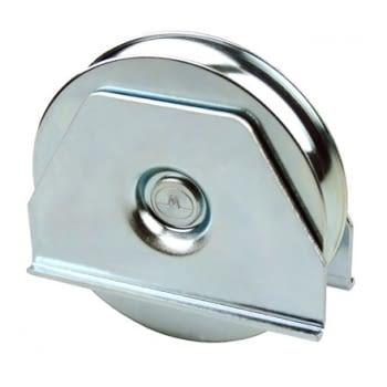 Rueda 60  mm con soporte soldar canal redondo de 8 mm AUMON