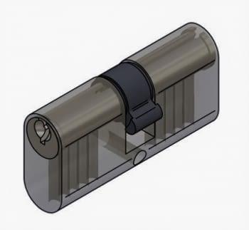 Cilindro perfil ovalado de serreta niquelado C002727N