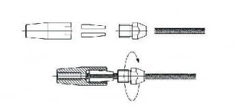 Terminal de apriete rápido con rosca interna inox AUMON - 1