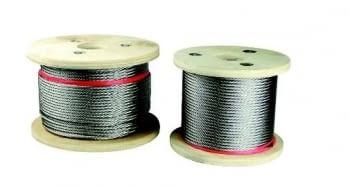 Bobina de cable inox de composición 7x7+0 AISI 316