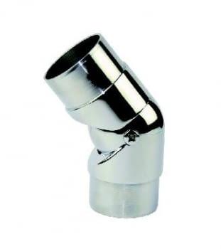 Empalme de ángulo orientable para barandilla inox AUMON