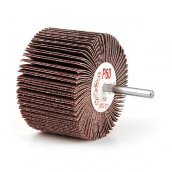 Paquete 10 cepillos abrasivos de tela corindón con eje 6 mm BIBIELLE