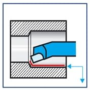 Herramienta torno acodada para mandrinado interior ISO 8 DIN 4973 IZAR - 1