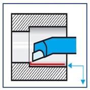 Herramienta torno acodada para cilindrar interior ISO 9 DIN 4974 IZAR - 1