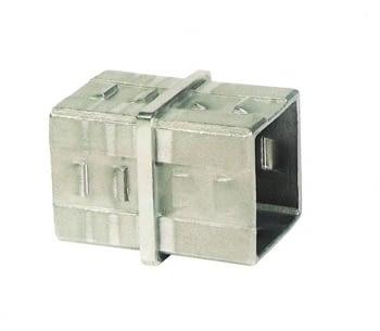 Unión cuadrada para barandilla INOX AISI-304 AUMON