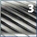 Fresa rotativa cilíndrica metal duro, con corte superior, IZAR - 3