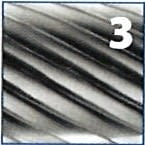 Fresa rotativa forma de ojiva redondeada de metal duro IZAR - 3