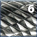 Fresa rotativa larga con forma de gota, metal duro,  IZAR - 3