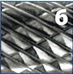 Juego 5 fresas rotativas variadas diámetro 9,60 mm de metal duro IZAR - 1