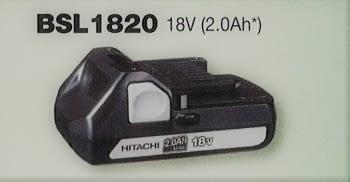 Batería 18 V  2.0 Ah deslizante de litio HITACHI