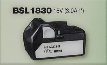 Batería 18 V  3.0 Ah deslizante de litio HITACHI
