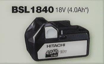 Batería 18 V  4.0 Ah deslizante de litio HITACHI
