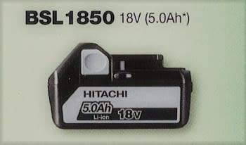 Batería 18 V  5.0 Ah deslizante de litio HITACHI