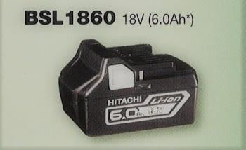 Batería 18 V  6.0 Ah deslizante de litio HITACHI