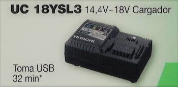 Cargador para baterías Li-ion deslizantes  14,4-18V   HITACHI