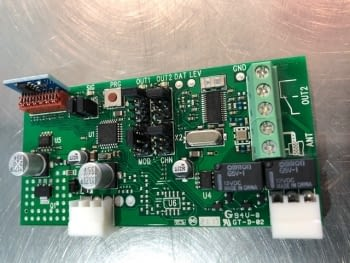 Tarjeta receptora de radio 2 canales  BIXR2  433 MHz  DITEC/ENTREMATIC