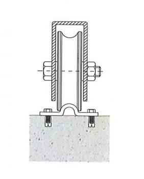 Guía para atornillar corredera inferior INOX canal redondo 20 mm (barra 3 metros) - 1