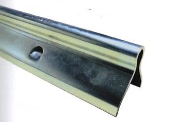 Guía empotrar inferior para puerta corredera INOX canal 20 mm (barras 3 metros)