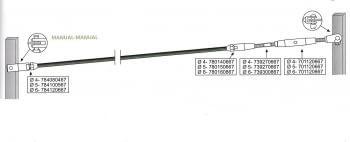 Kit 1 tramo para cable barandilla inox plana/inclinada para poste de pasamano canto - 1