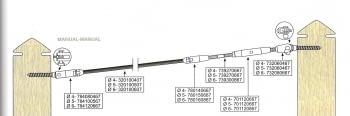 Kit 1 tramo para cable barandilla inox inclinada para poste de madera